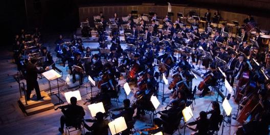 Orchester wird angezeigt.